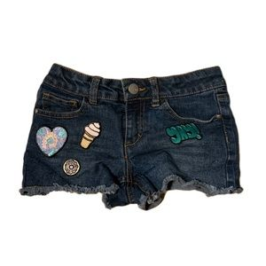 Total Girl Blue Jean Patch Shorts- 8